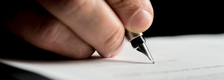 kredietverzekering, verzekering, ondertekening, krediet, hand, man